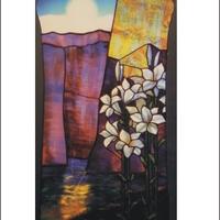 Róth Miksa: Éjszakai táj liliomokkal