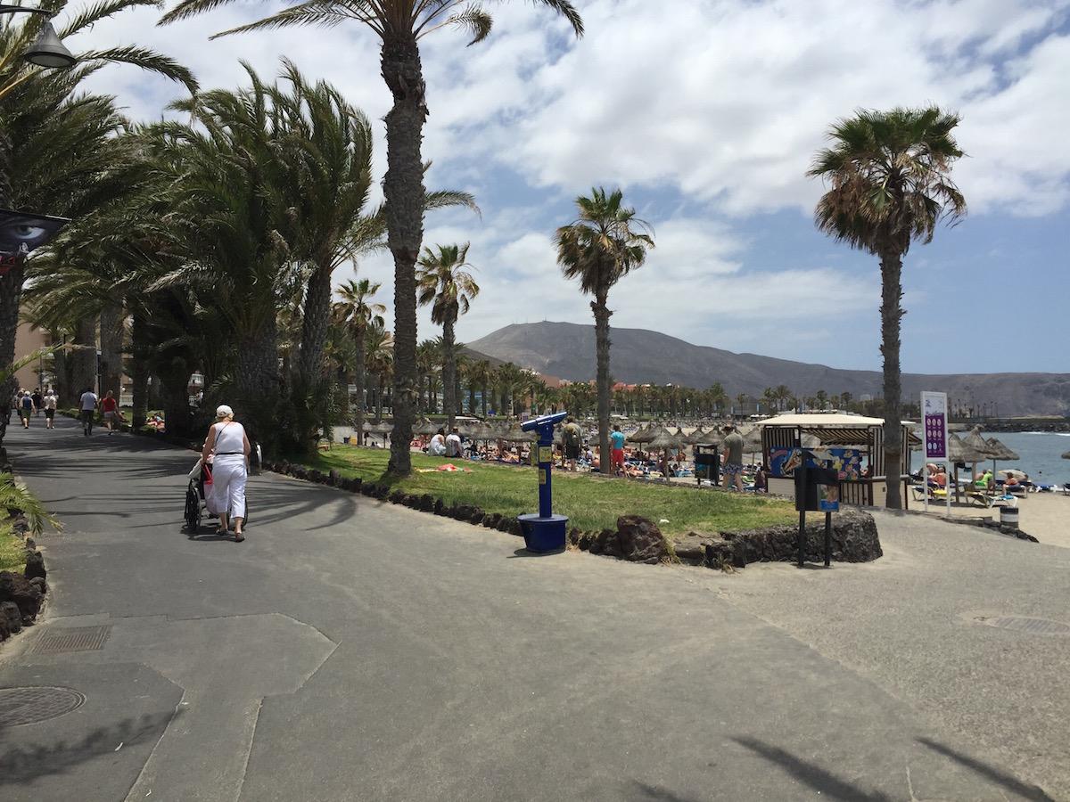 Playa de la Vistas-hoz érkezve