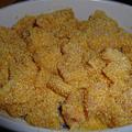 Kukoricadarában panírozott csirkemell wokalizált zöldséggel