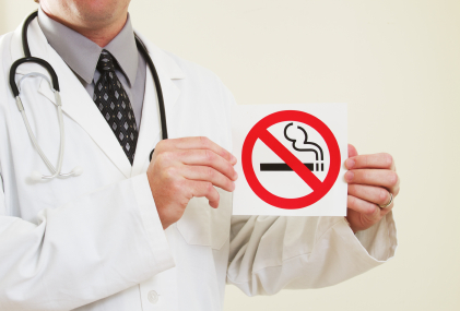 No Smoking Sign with Doctor Texas Employment Lawyer Russell Cawyer Fort Worth Dallas Texas.jpg
