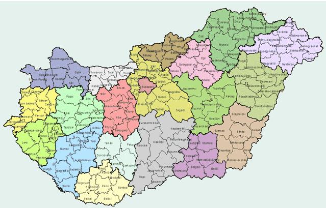 magyarország kistérségei térkép Kistérségek átszervezése: pártpolitikai okok   ténytár.blog magyarország kistérségei térkép