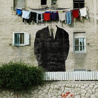street art és teregetés