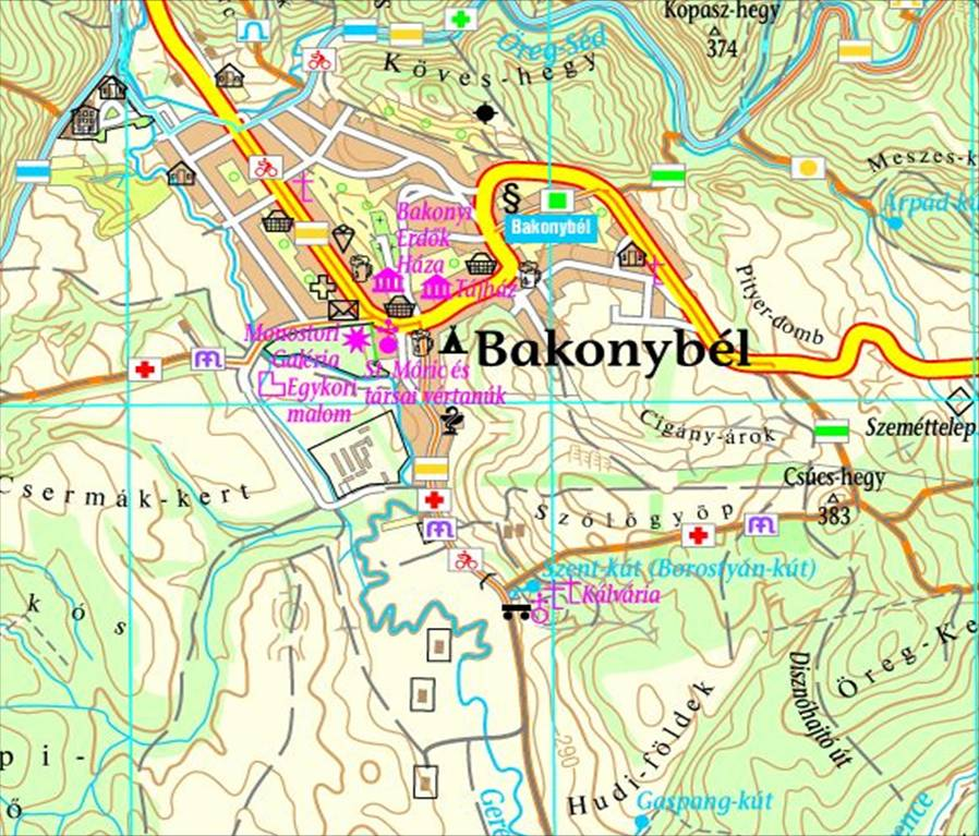 bakonybél térkép Szent kút (Borostyán kút), Bakonybél   terepgyerek bakonybél térkép