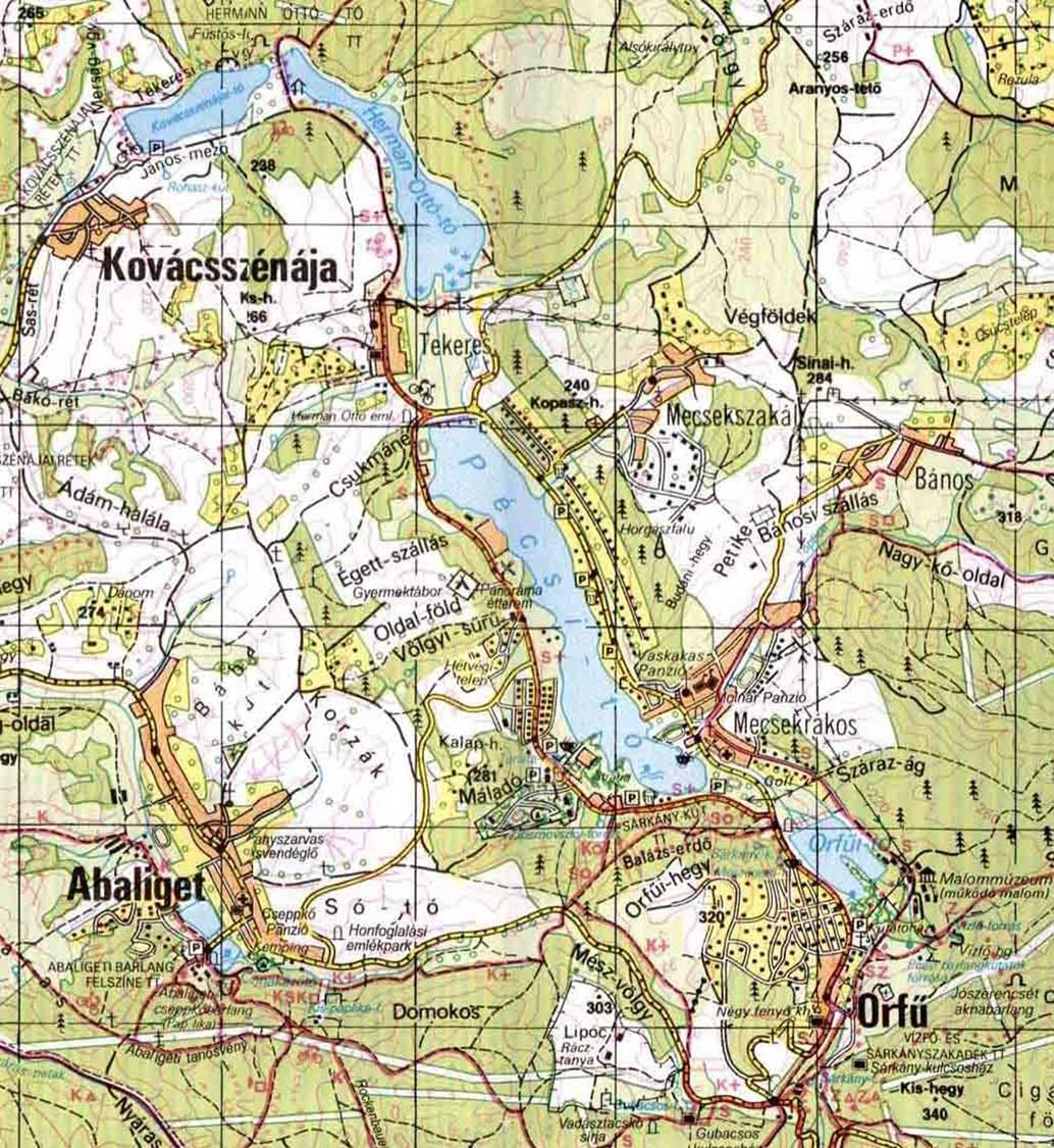 orfű térkép Orfűi tavak   terepgyerek orfű térkép