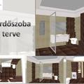 Modern fürdő: barna-bézs elegancia
