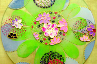 Virágba borult üvegek