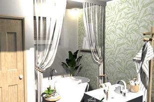 Fürdő és szoba egyben
