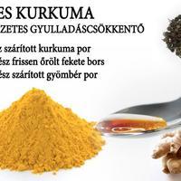 Mézes kurkuma - természetes gyulladáscsökkentő