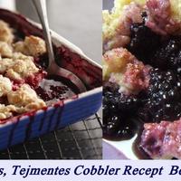 Egyszerű Gluténmentes, Tejmentes Cobbler Recept  (Morzsasüti) Gyümölcsökkel