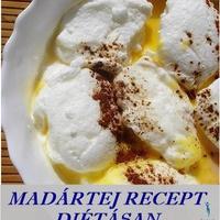 Madártej bogyós gyümölcsökkel, diétásan