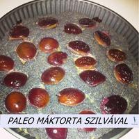Paleo mákos torta szilvával