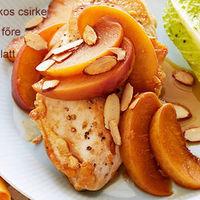 Pikáns, őszibarackos csirke recept 4 személynek 20 perc alatt