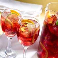 Jeges sangria tea narancslével