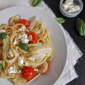 Spagetti édesköménnyel és fetával