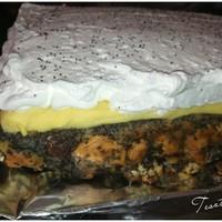 Mákos guba torta madártej ízű krémmel