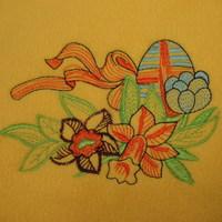 Húsvéti tojás hímzés párnára, terítőre, törülközőre és egyéb textil termékekre