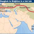 Bangkok-Brighton tuktukkal