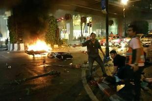 Bomba merénylet Bangkok szívében
