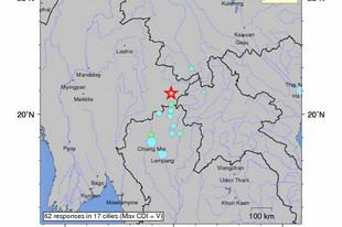 Földrengés Burmában és Thaiföldön
