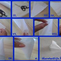 Papírzsák hajtogatása tíz lépésben