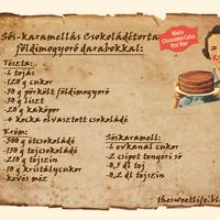 Sós-karamellás Csokoládétorta pörkölt földimogyoró darabokkal