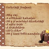 Csokoládé fondant