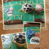 Póker torta