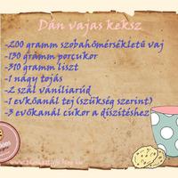 Eredeti dán vajas keksz recept