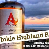 Arbikie Highland Rye - jótékony célokat szolgál az első skót rozspárlat 200 év után