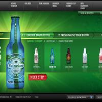 Személyre szabható design Heineken palack