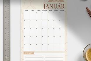 Letölthető januári naptárak