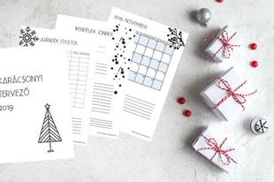 Ingyenesen letölthető karácsonyi tervező + ajándék kísérő