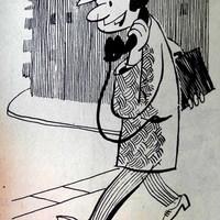 Mobiltelefon karikatúra 1961-ből