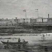 Gőzkomp a Dunán