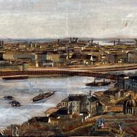 Vasúti híd Pest és Buda között