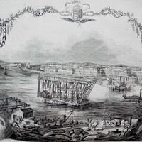 Újabb képek a Lánchíd építéséről