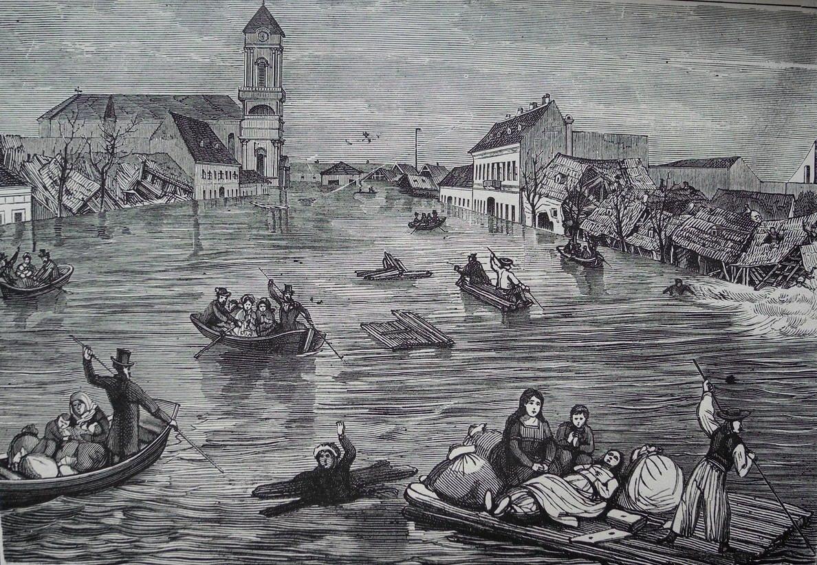 1838 - amíg elérte Pestet az árvíz