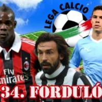 Calcio - 34. forduló