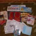 Buddha CD-k, matricák, könyvek