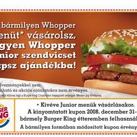 Burger King kupon, Ingyen könyv