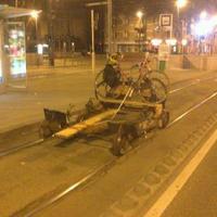 Hajtány a Fehérvári úton