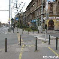 Zöldövezeti kerékpárút a Hungária körúton