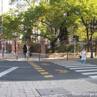 Kerékpáros izé a Budafoki úton