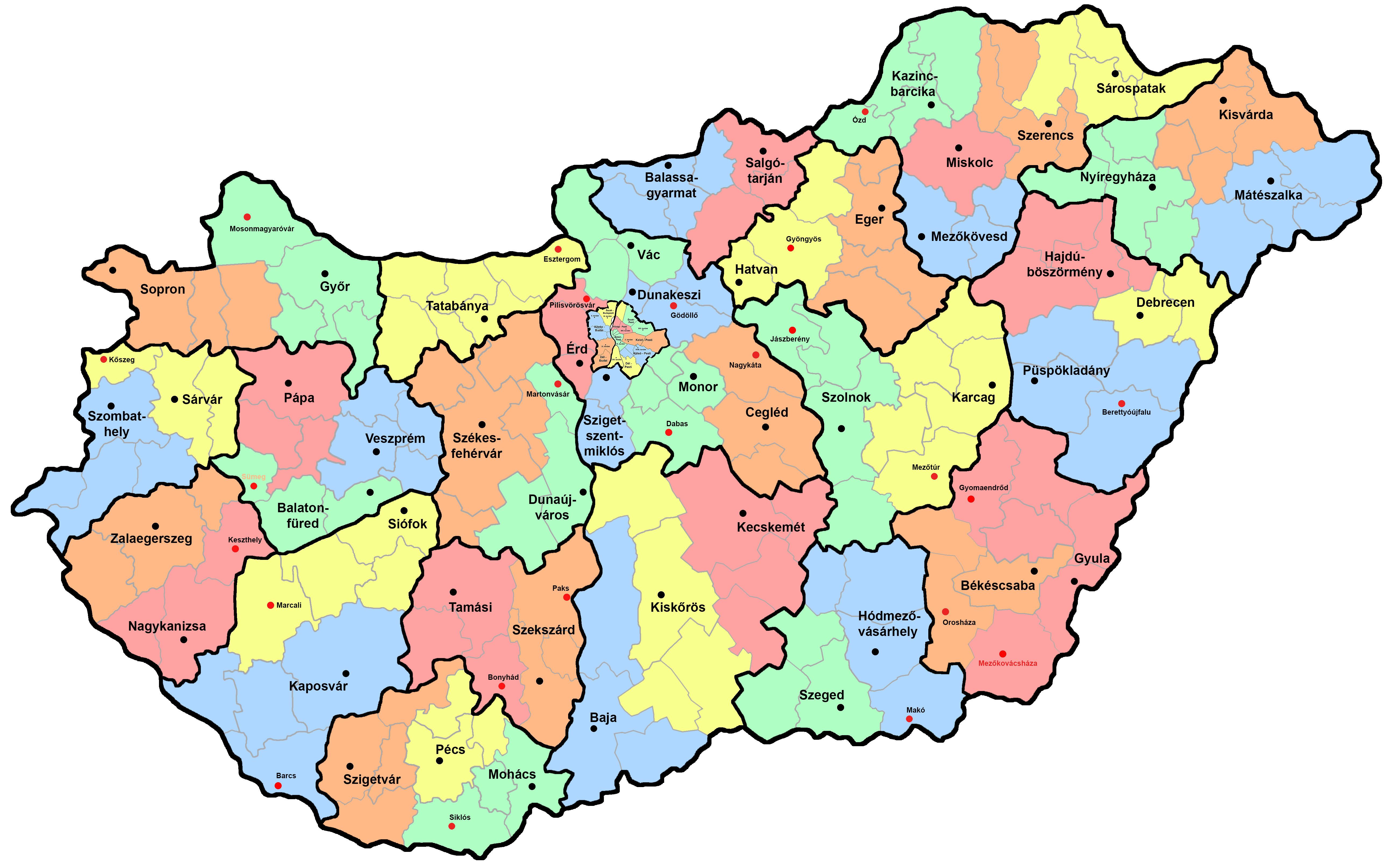 magyarország térkép megyeszékhelyek A papír és a led izzó hiányának fogságában – jelenthet e megoldást  magyarország térkép megyeszékhelyek