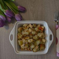 Csirkemelles finomság krumplival