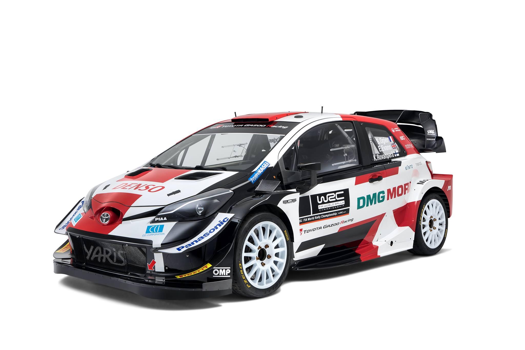 A Toyota Yaris WRC 2021-es színei