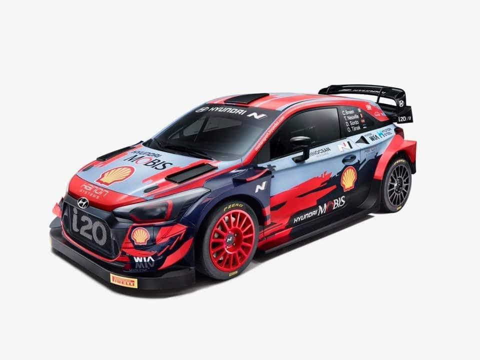 A Hyundai Motorsport idei dekorációja