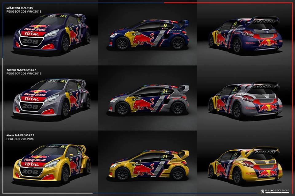 Íme a Team Peugeot Total rallycross VB csapat