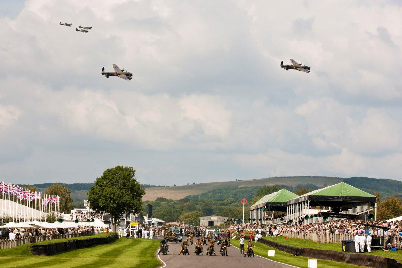 Lancasters fly over West Sussex at War commemoration.jpg