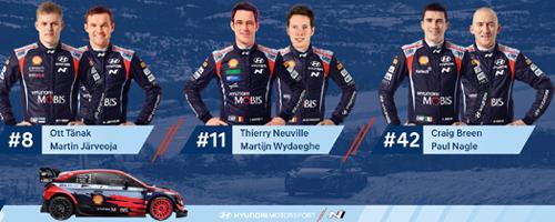 Tanak, Neuville és Breen képviseli a Hyundai-t Horvátországban